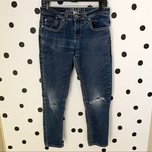 🔥30%OFF🔥Hydraulic distressed jeans size 8